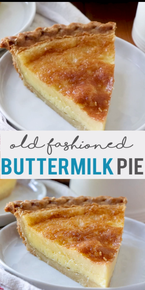 This Traditionally Southern Buttermilk Pie Is Simple To Make And Pleases The Whole Family A Flaky Pie Cru Video Easy Pie Recipes Buttermilk Recipes Chess Pie Recipe
