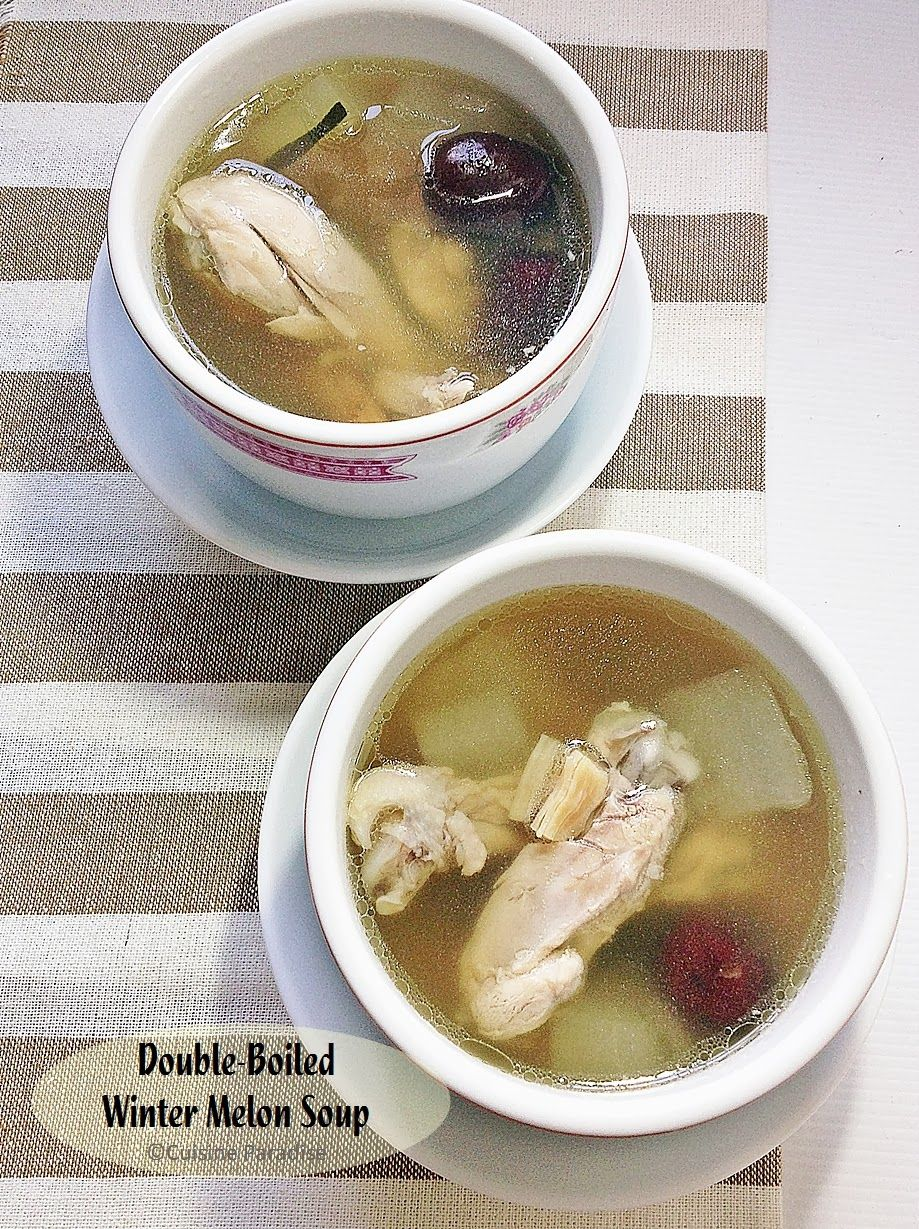 Double boiled winter melon soup with roast chicken dried scallop double boiled winter melon soup with roast chicken dried scallop codonopsis root red date and ginger forumfinder Images