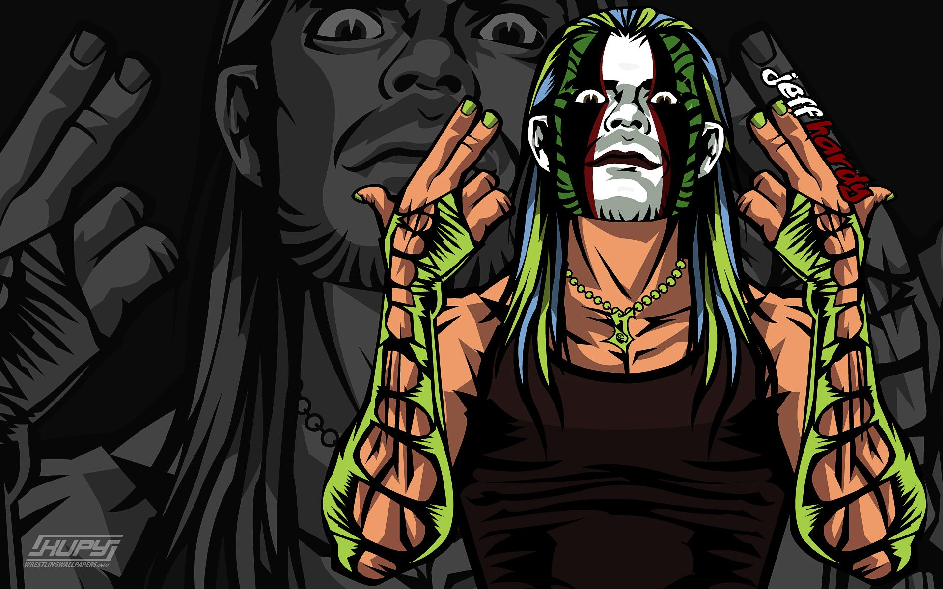 Jeff Hardy | jeff hardy cartoon WWE Wallpapers| HD ...