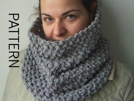 Cowl Knitting Pattern Pdf Pattern Scarf Beginner By Ebruk Tejidos