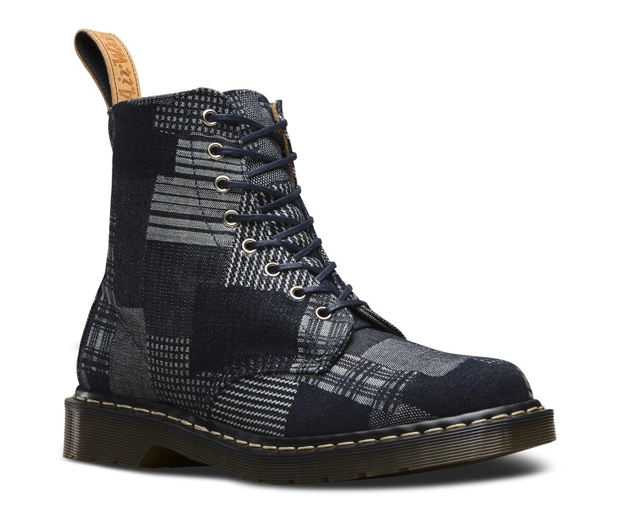 Vogue Retro Patterns Men Boots Boots Black Smooth For Sport sneaker 1460 Dr Marten