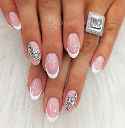 best nails acrylic french tip square ideas  french nails