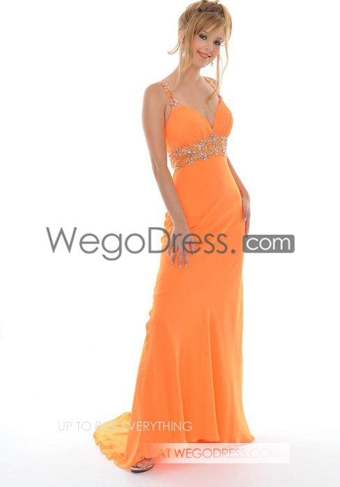 orange prom dress | Prom | Pinterest