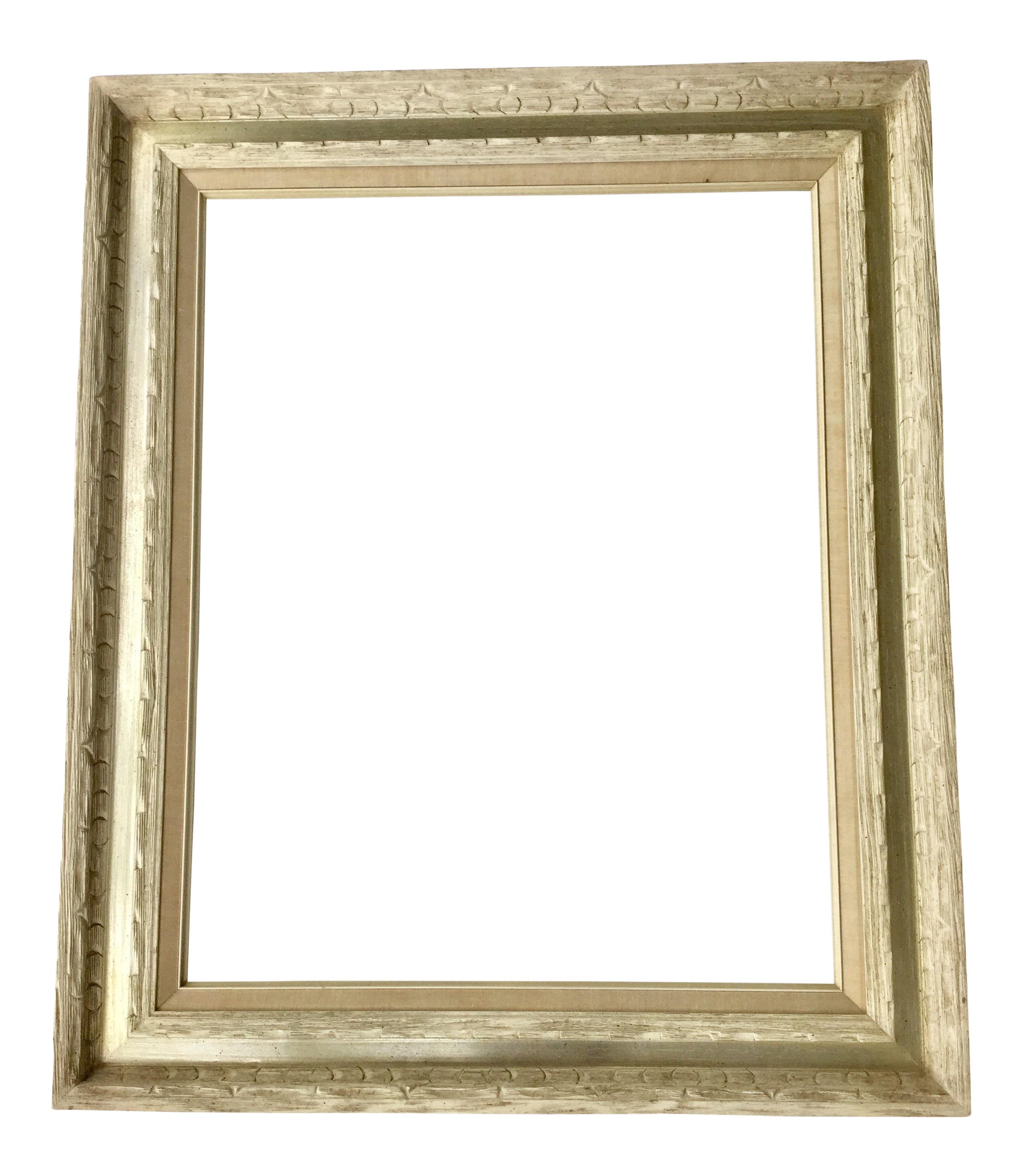 Mid-Century Carved White Wood Frame on Chairish.com | Vintage wood ...
