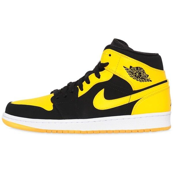 0b36659e6b44 Nike Men Air Jordan 1 Mid Top Sneakers ( 155) ❤ liked on Polyvore featuring
