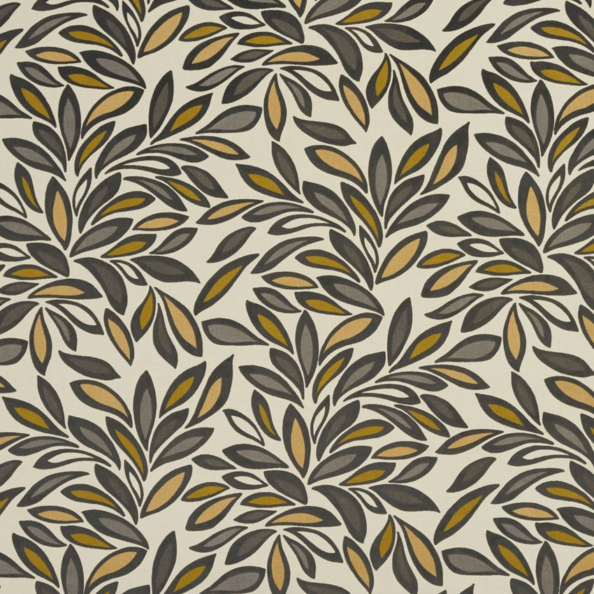 Beige And Grey Foliage Leaf Linen And Microfiber