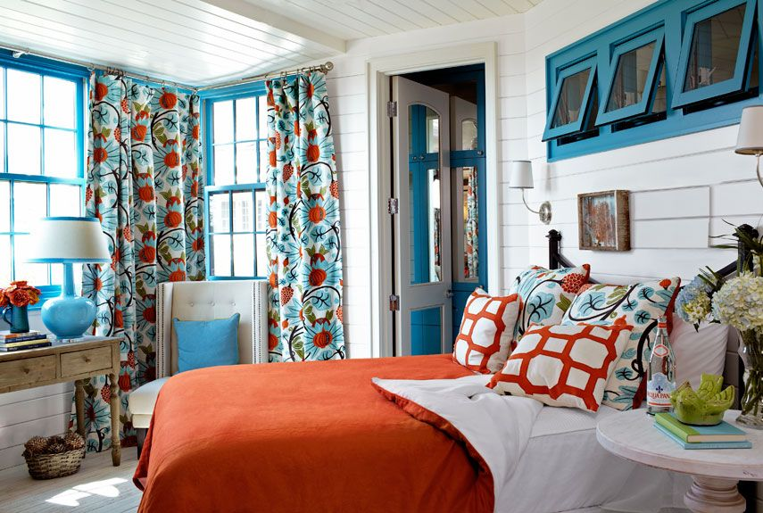 Exceptionnel Love This Color Palette: Blue And Orange Bedroom Tracery Interiors