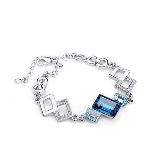 Mysterious cube totem Swarovski Crystal Bracelet