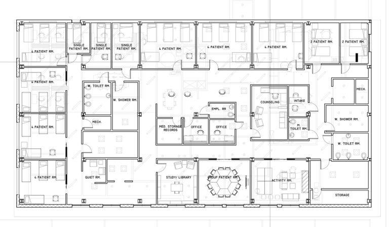 Hospital Plan Layout Hospital Plans Hospital Floor Plan Hospital Architecture