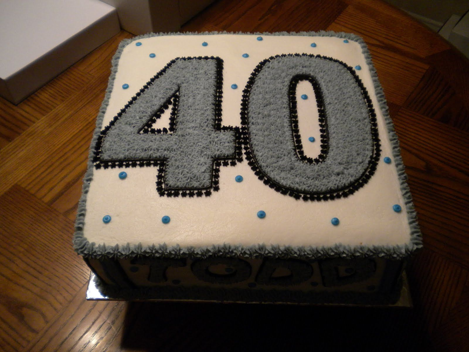 This was a cake for todd conways 40th birthday it was a 12 inch cakes cupcakes and cake - Mens cake decorating ideas ...