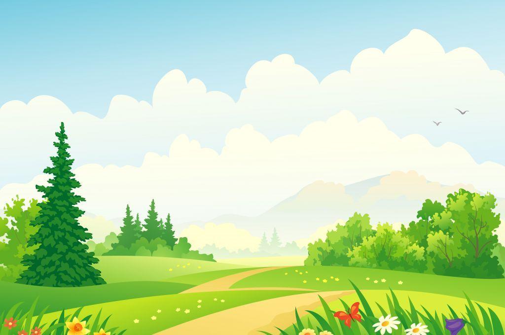 Cloudy Day Forest Landscape Landscape Background Landscape