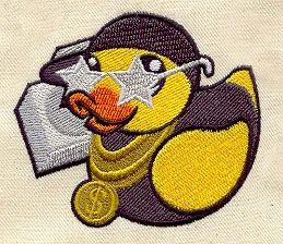 Embroidery Designs at Urban Threads - Gangsta Duckie