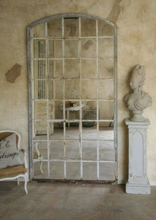 Wall Mirror That Was Fashioned Out Of Circa 1880 1900 Iron