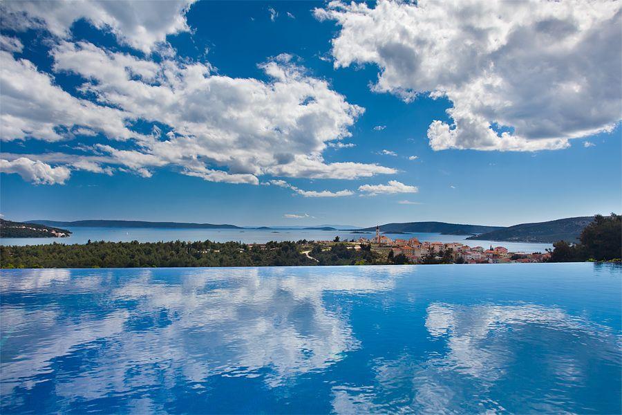 Infinity pool view in Croatia
