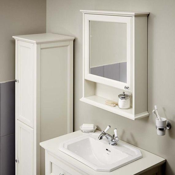 Savoy Old English Mirror Wall White Bathroom