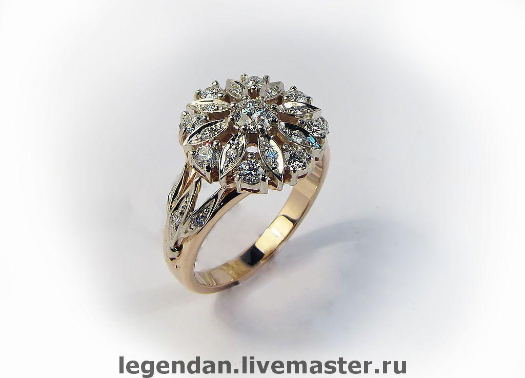 911cbca7742a Золотое кольцо с бриллиантами
