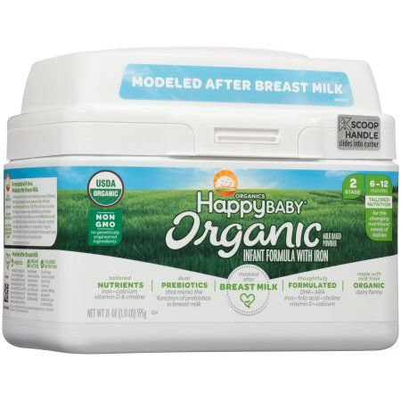 Happy Baby® Organic Stage 2 Milk Based Powder with Iron Infant Formula 21 oz. Tub, Multicolor