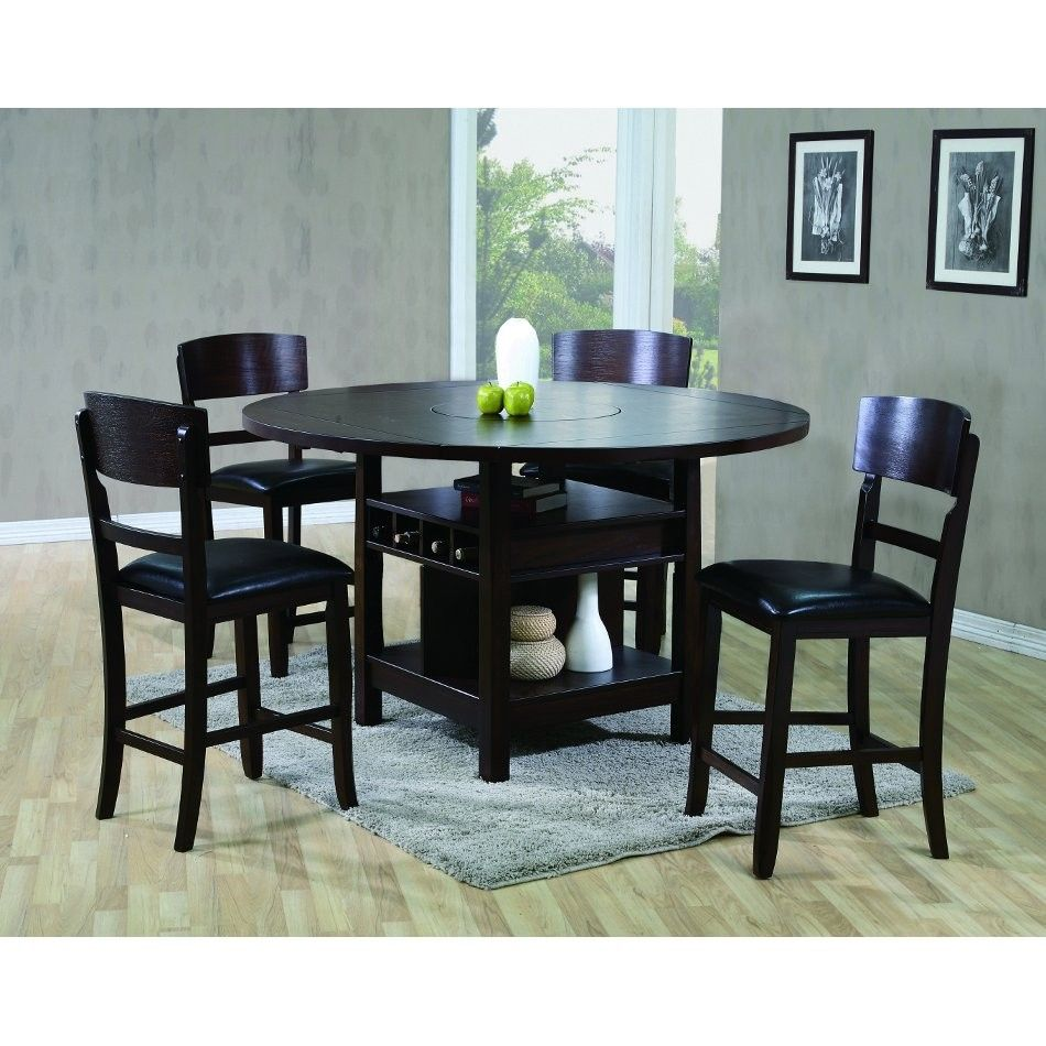 Charming Phoenix Dining Counter Height Table 4 Chairs 2849 Conn S