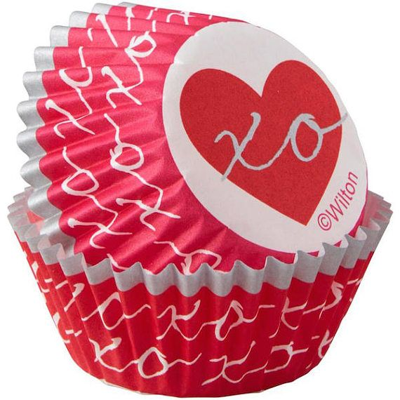 Heartfelt Valentine Mini Cupcake Liners Baking Cups Muffin Cups