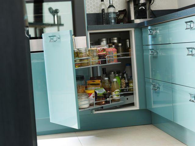 5 idées pour une cuisine maxi-rangement - amenagement placard d angle cuisine