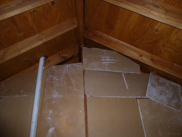 Condo Attic Firewall Damage Tile Floor Flooring Attic