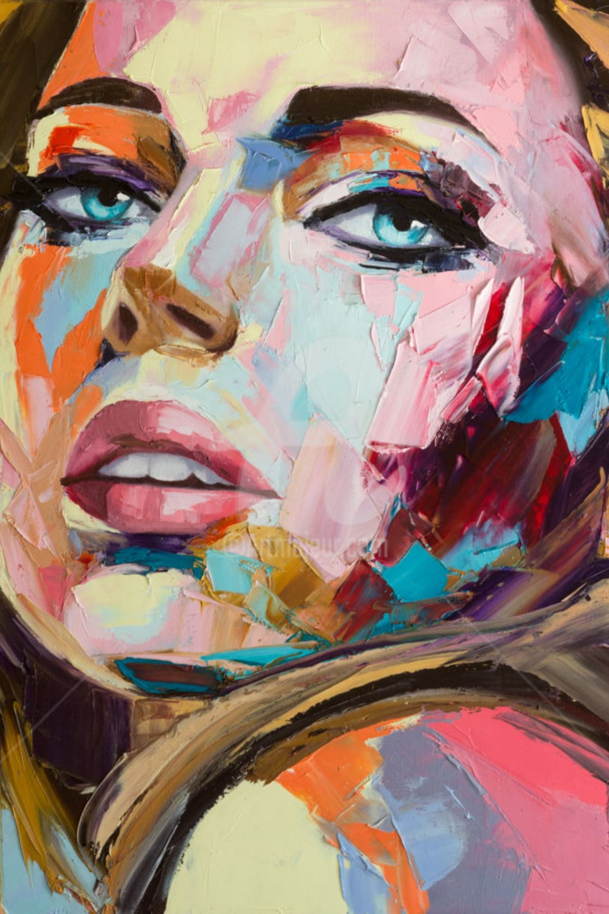 Best Girl Drawing Images And Ideas Painting Abstract Faces Graphic Art Print