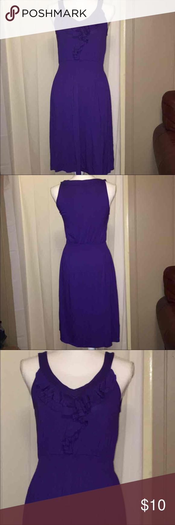Huge sale spence boho ruffle grecian dress md | Purple dress ...
