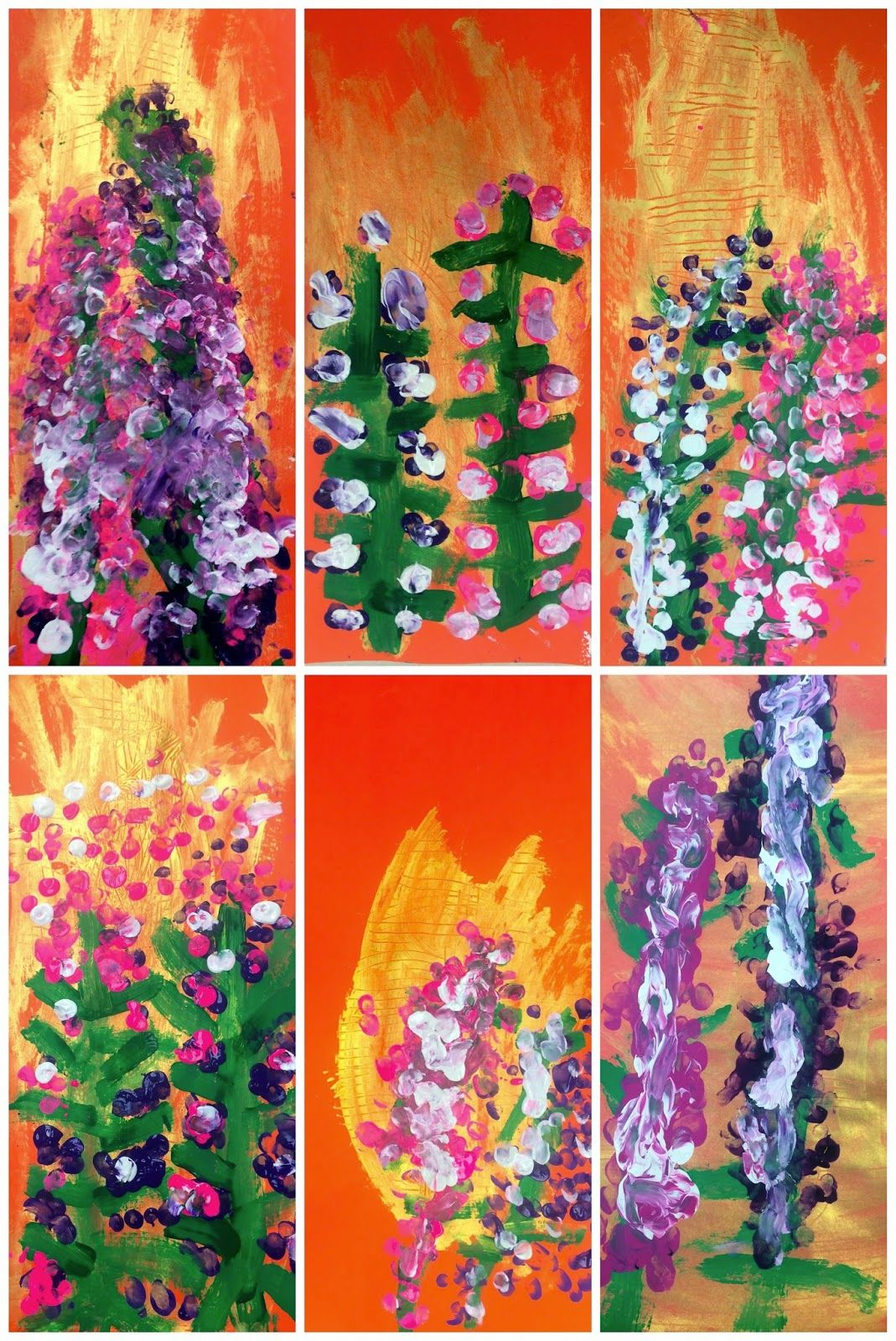 Lupine project | Plants | Elementary art, Art lessons elementary
