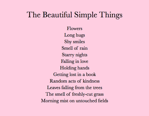 Beautiful Simple Things In Life Beautiful Simple Things Quotes