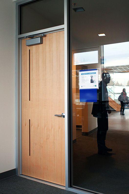 A Prototype Door Installed On The Ubc Campus Vanair Design