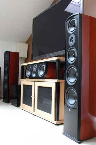 Aperion Verus Grand Towers And Center Channel Home Audio