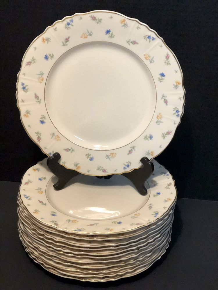 Vintage Syracuse China Federal Shape Suzanne 12 Dinner Plates In