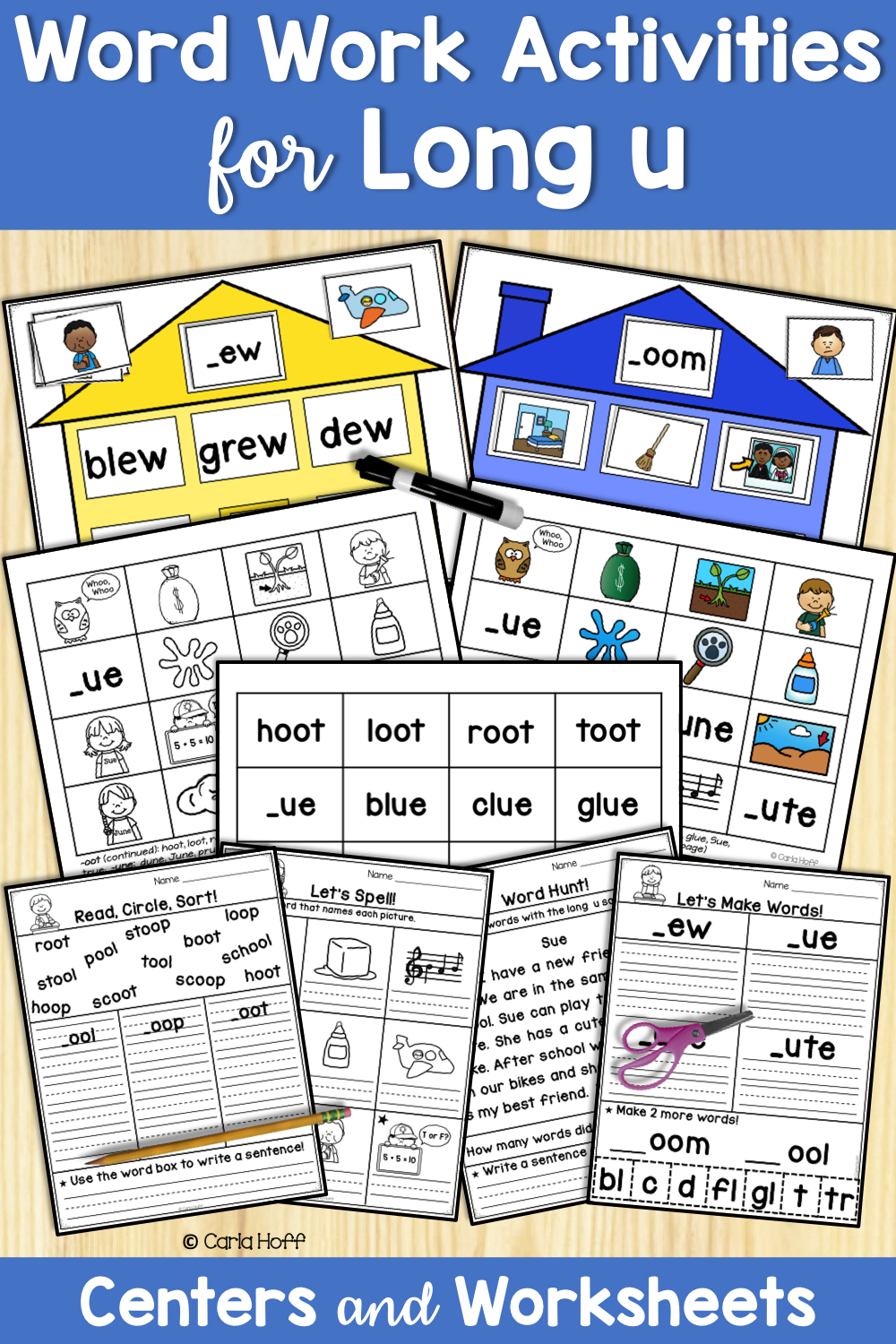 small resolution of Word Work Activities for Long U   Word work activities