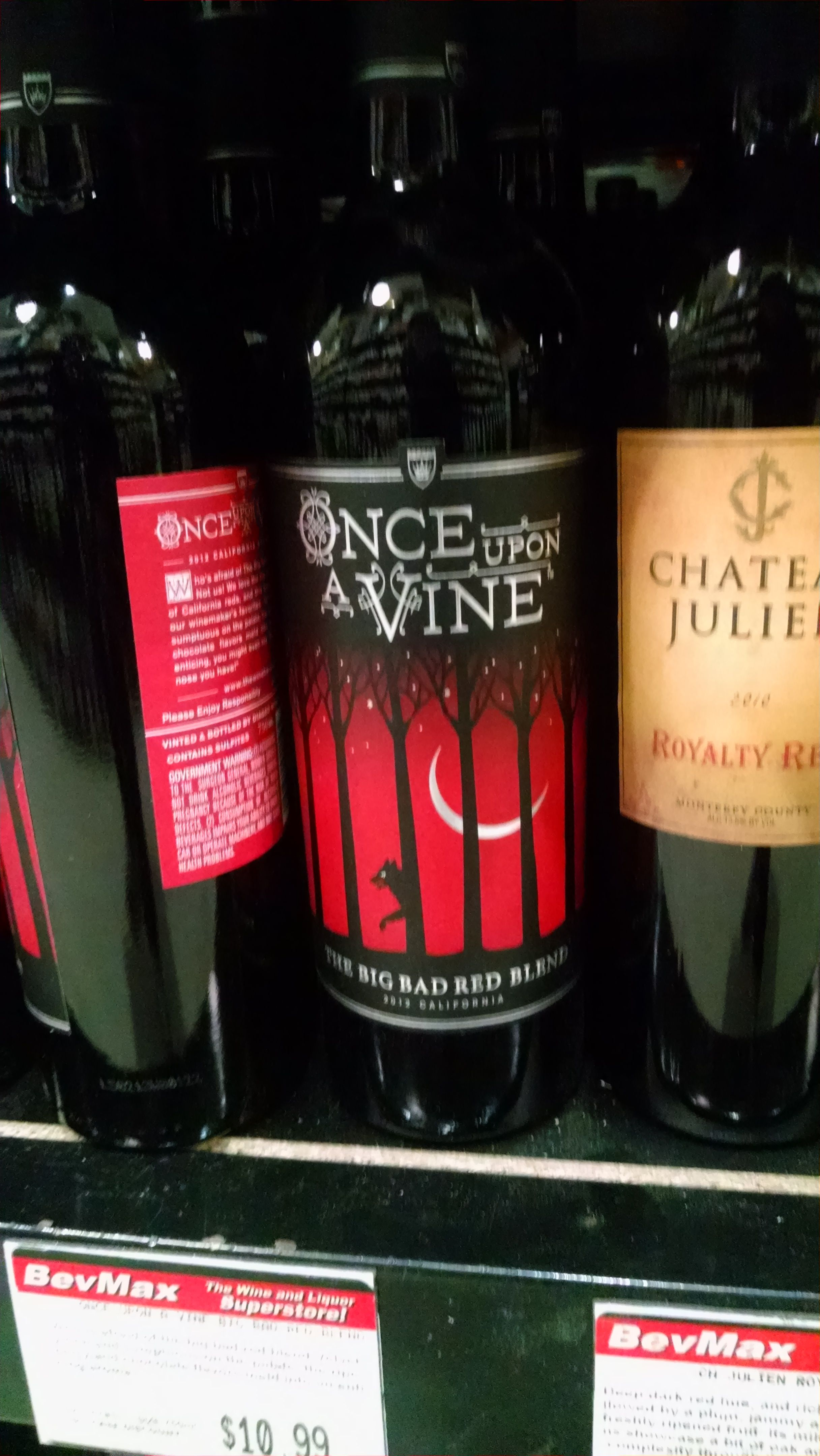 Once Upon A Vine With The Wolf In The Background 10 99 Wine And Beer Party Time 10 Things