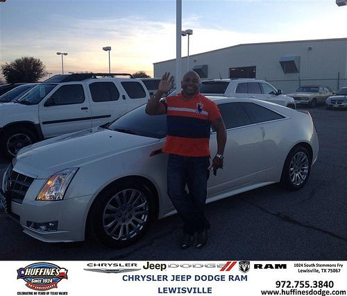 Thank you to Joe Hobson on your new 2011 #Cadillac #Cts Coupe from Mark Gill and everyone at Huffines Chrysler Jeep Dodge Ram Lewisville!