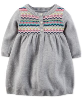 04af1cfe5 Carter s Baby Girls  Fair-Isle Dress