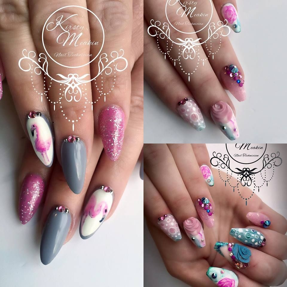 Kirsty Meakin Nail Art, Pink Flamingo | NAIO NAILS PRODUCTS ...