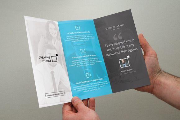 corporate trifold business brochure pinterest brochures