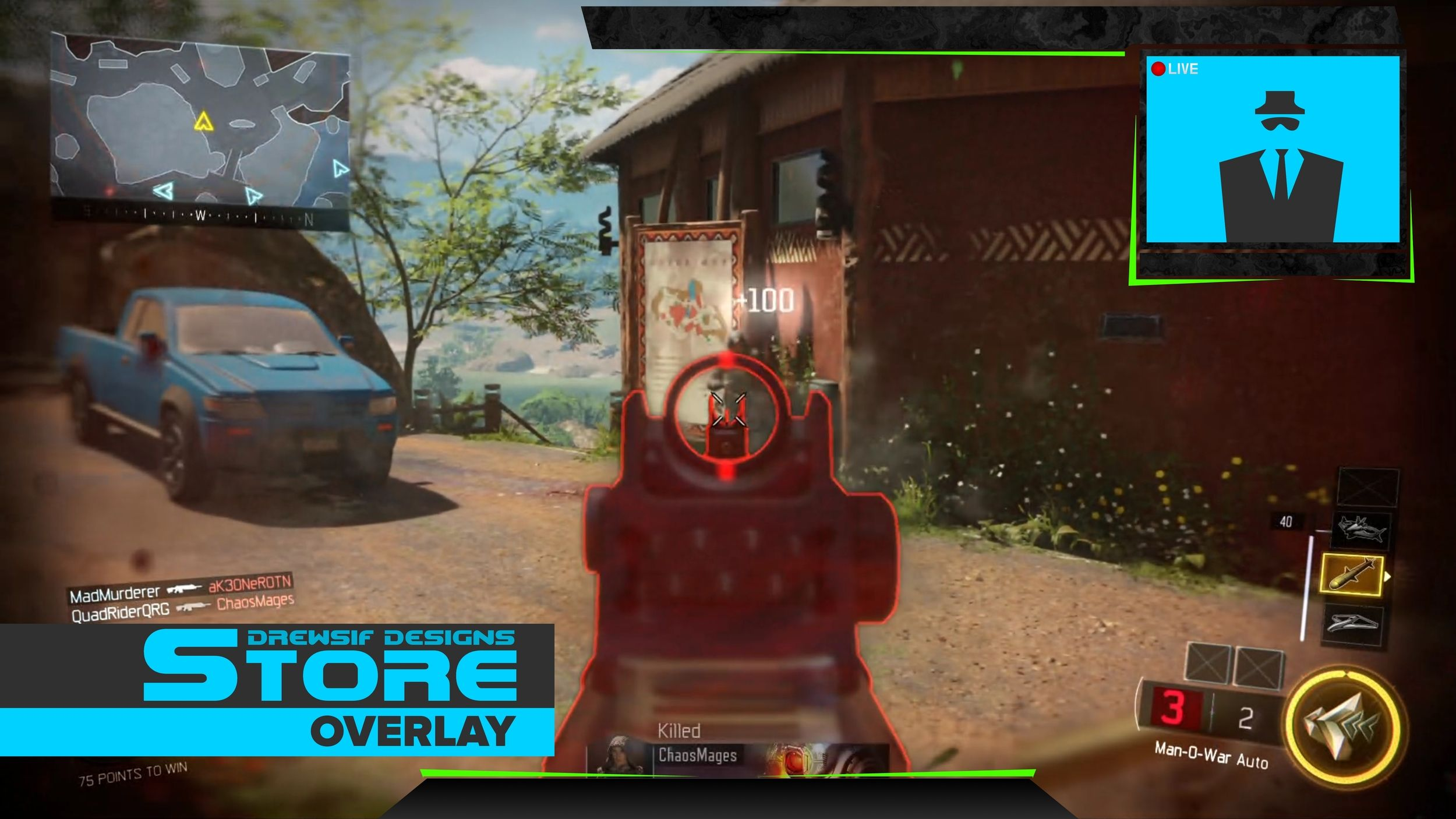 Live Stream Overlay Cod Lime Green 1 — Drewsif Designs