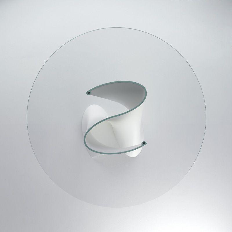 Mesa redonda de cristal s table by mdf italia dise o for Mesa redonda cristal 8 personas