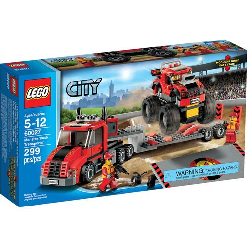 Lego City Great Vehicles Monster Truck Transporter Walmart Com In 2020 Monster Trucks Lego City Lego Truck