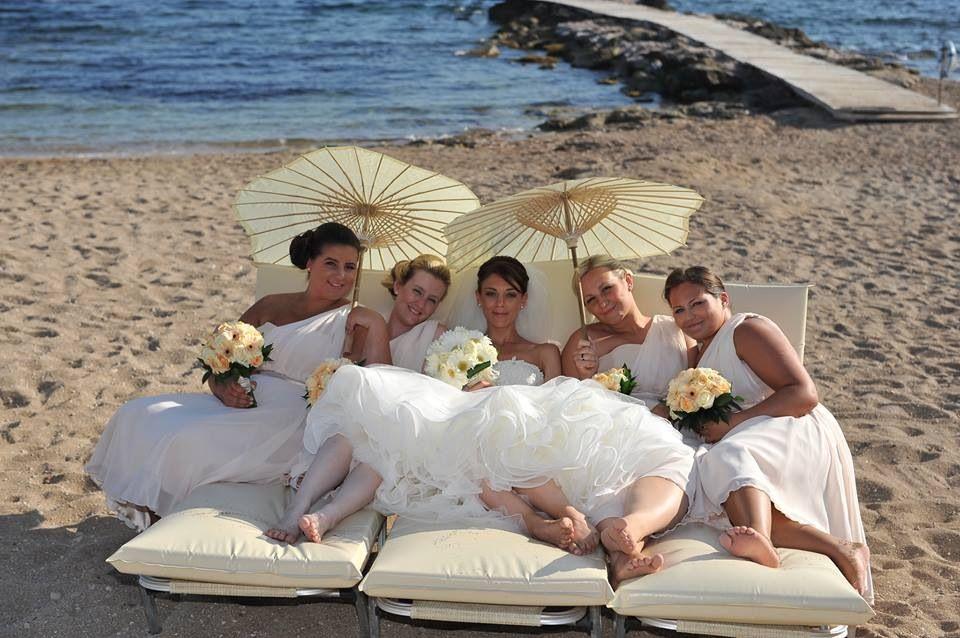 Cute pic for girls beach wedding | Cyprus wedding, Beach ...