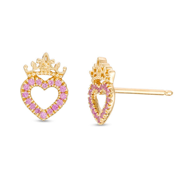 Gemestone Jewellery Fashion Heart Minnie Mouse Bow Earrings 925 Sterling Silver Round Black Sim Diamond