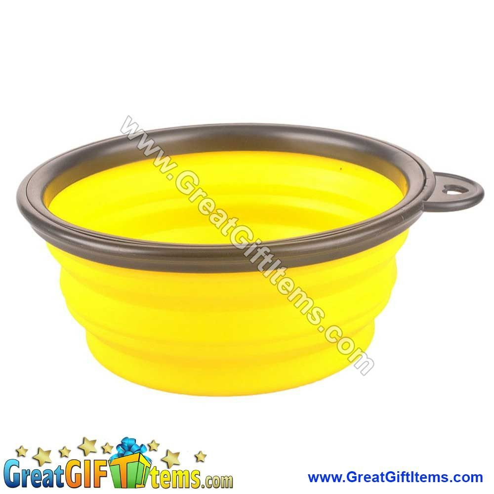 Folding Collapsible Dog Bowls Silicone