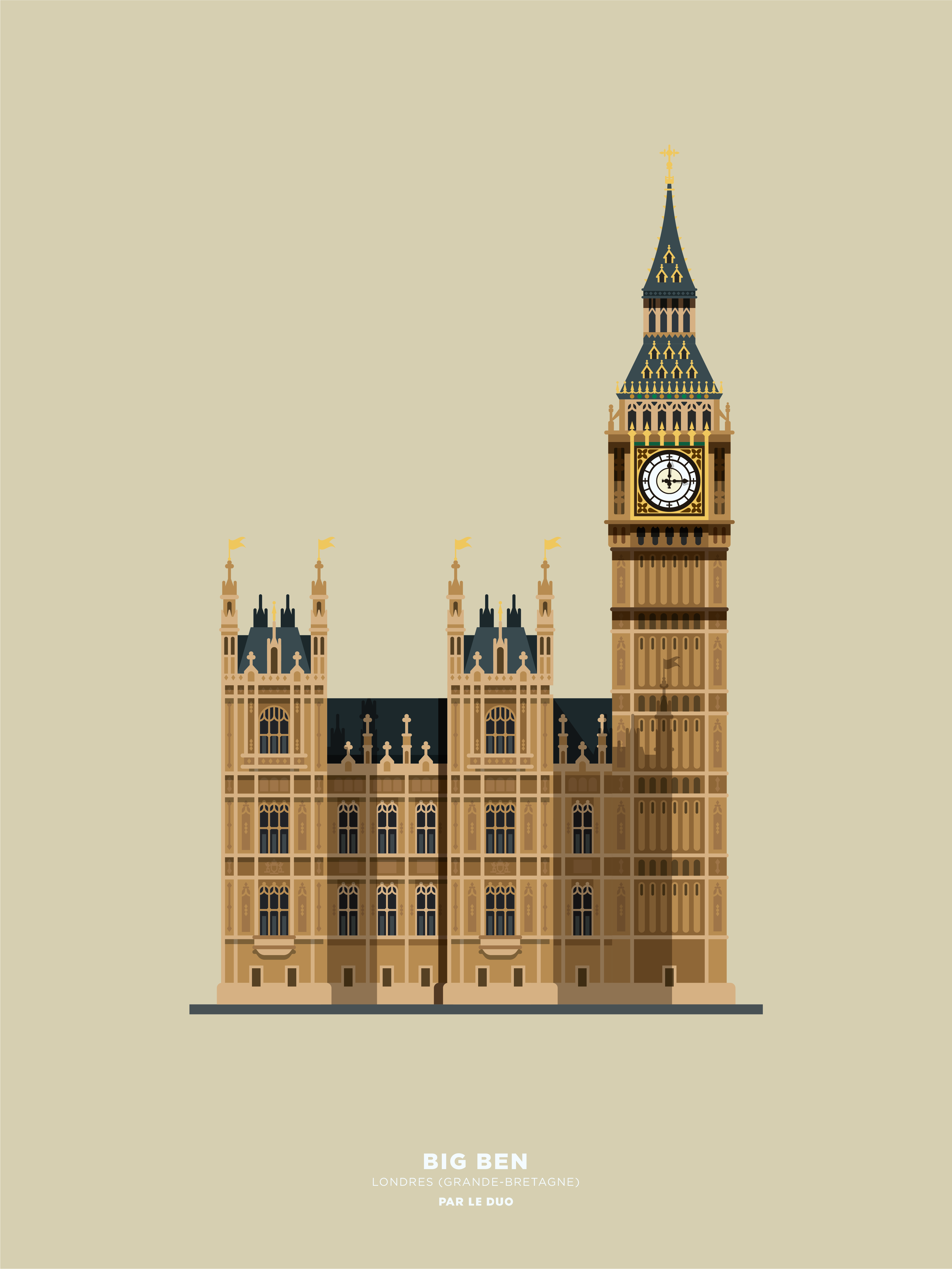 Big Ben By Le Duo London Illustration London Painting London Poster