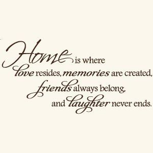 home is where love resides memories are created friends always