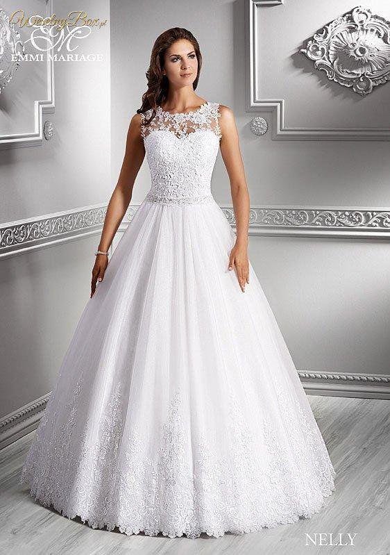 3ea5c318d7 Śliczna suknia ślubna z koronkowymi ramiączkami!