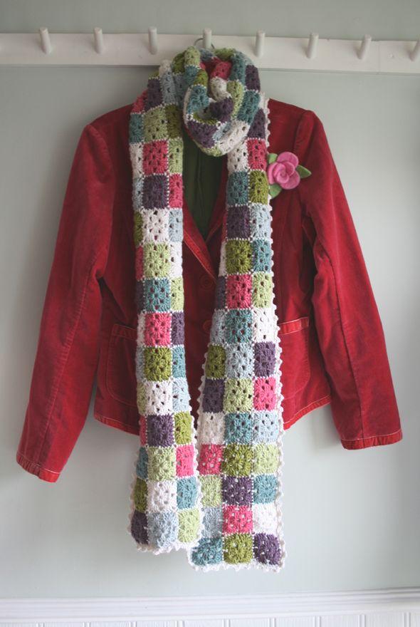 Bufanda granny squares | Crochet | Pinterest | Schals tücher, Tücher ...