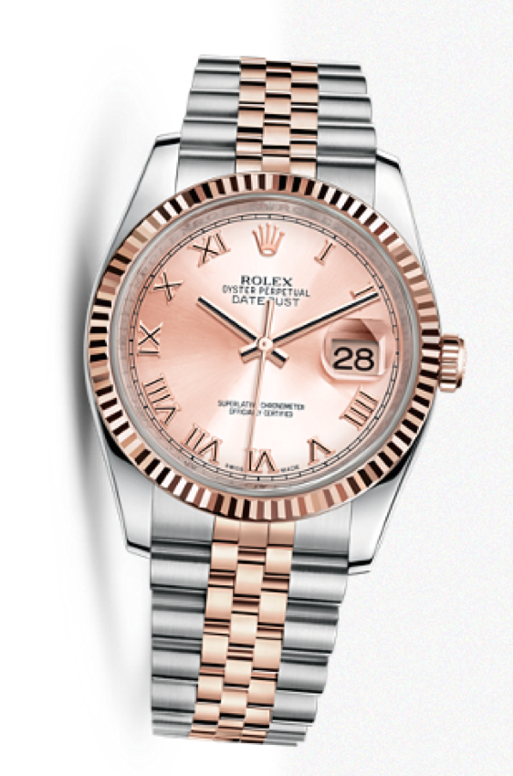Rose Gold & Steel Rolex