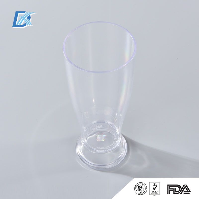Clear Hard Plastic Cup For Wine is best for you, when you wanted to keep the costs down, but still appear somewhat classy.Dongguan Dexuan® Plastic Hardware Products Co., Ltd.'s Wholesale Clear Hard Plastic Cup For Wine is 100% of PS / PP(polypropylene) raw materials, production of food-grade particles, without any industrial material or recycled material, toxic